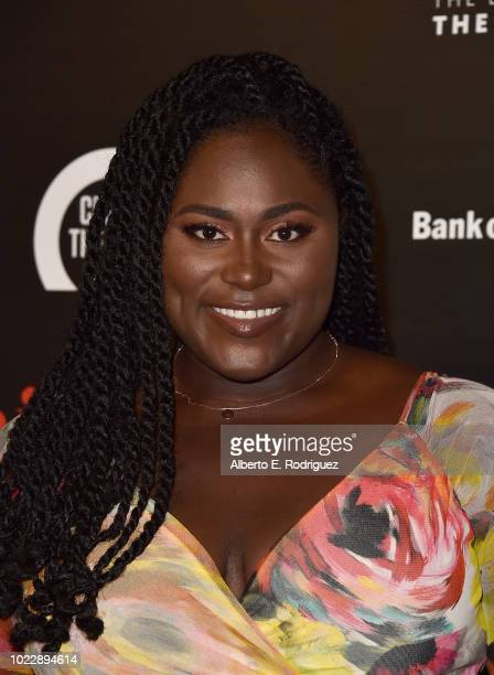 Danielle Brooks attends the Opening Night of Ain't Too Proud The Life And Times Of The Temptations at the Ahmanson Theatre on August 24 2018 in Los...