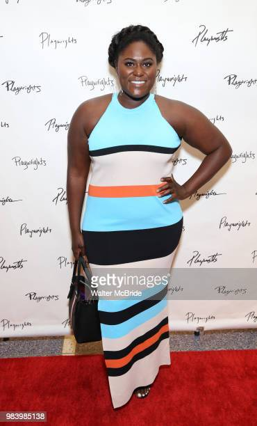 Danielle Brooks attends the opening night performance of the Playwrights Horizons world premiere production of 'Log Cabin' on June 25 2018 at...