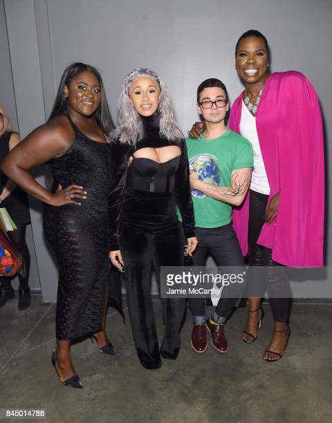 Danielle Brooks Cardi B Christian Siriano and Leslie Jones pose backstage for the Christian Siriano fashion show during New York Fashion Week The...