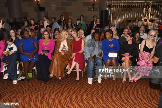 Danielle Brooks Carmen Electra Judith Light Cynthia Nixon Whoopi Goldberg Tiffany Haddish Sarah Hyland and Kim Petras attend Christian Siriano Front...