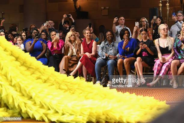 Danielle Brooks Carmen Electra Judith Light Cynthia Nixon Whoopi Goldberg Tiffany Haddish Sarah Hyland and Kim Petras attend Christian Siriano Front...