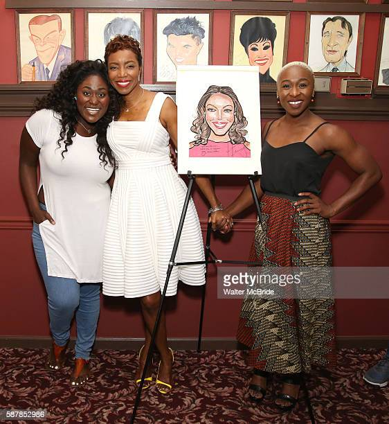Danielle Brooks Heather Headley and Cynthia Erivo attend the unveiling of Heather Headley's Portrait on the Sardi's Wall of Fame at Sardi's...