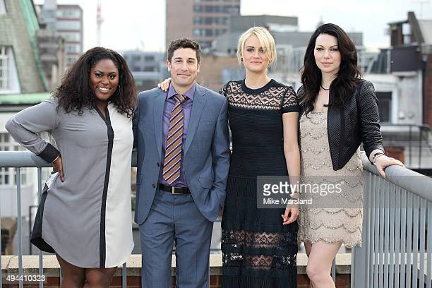 """Danielle Brooks, Jason Biggs, Taylor Schilling and Laura Prepon attend a photocall to launch season 2 of Netflix exclusive series """"Orange Is The New..."""