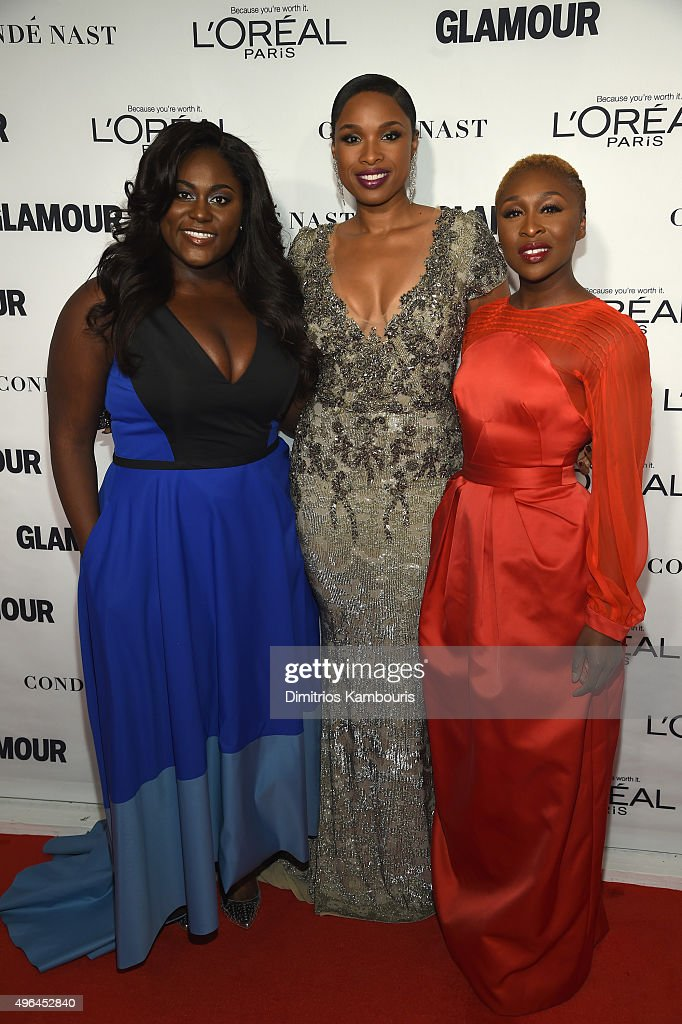 Danielle Brooks, Jennifer Hudson and Cynthia Erivo attend 2015 Glamour Women Of The Year Awards at Carnegie Hall on November 9, 2015 in New York City.