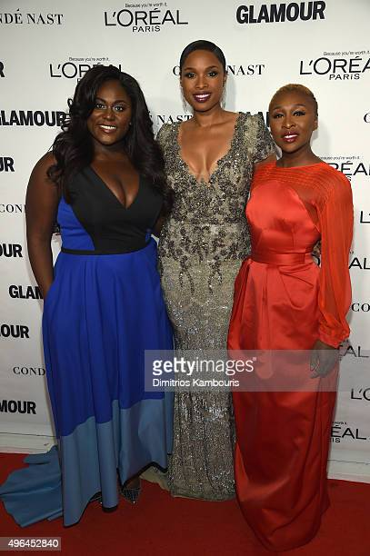 Danielle Brooks Jennifer Hudson and Cynthia Erivo attend 2015 Glamour Women Of The Year Awards at Carnegie Hall on November 9 2015 in New York City