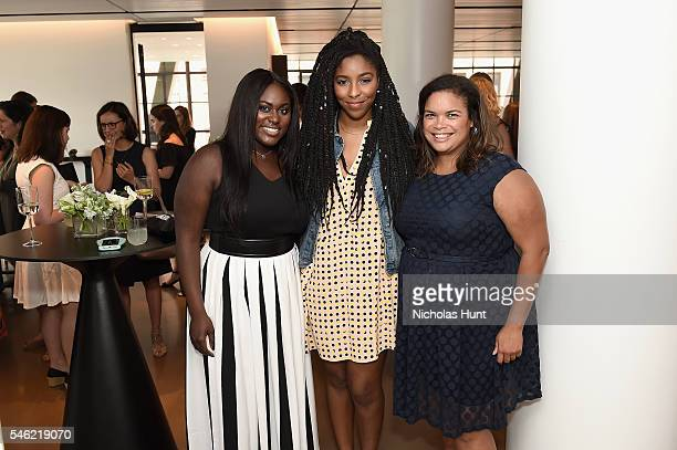 Danielle Brooks Jessica Williams and Crystal Patterson attend a luncheon hosted by Glamour and Facebook to discuss the 2016 election at Samsung 837...