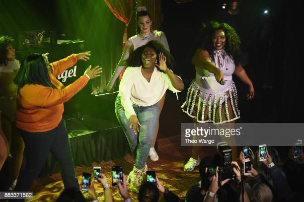 Danielle Brooks joins Lizzo onstage at Lane Bryant Presents #ImNoAngel Powered By Pandora featuring Lizzo on November 30 2017 in New York City