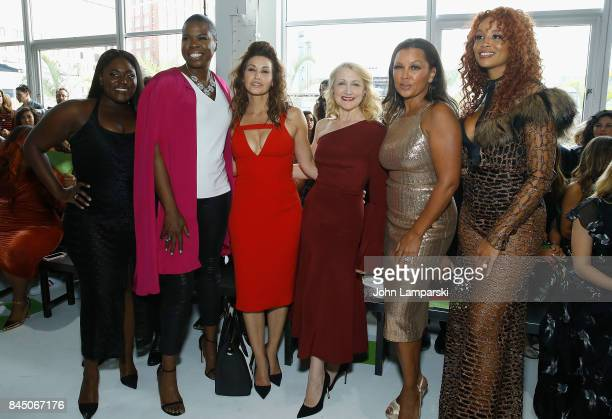 Danielle Brooks Leslie Jones Gina Gershon Patricia Clarckson Vanessa Williams and Jillian Harvey attend the Christian Siriano collection during the...