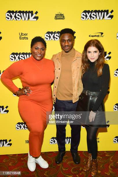 Danielle Brooks Marchánt Davis and Anna Kendrick attends the The Day Shall Come Premiere 2019 SXSW Conference and Festivals at Paramount Theatre on...