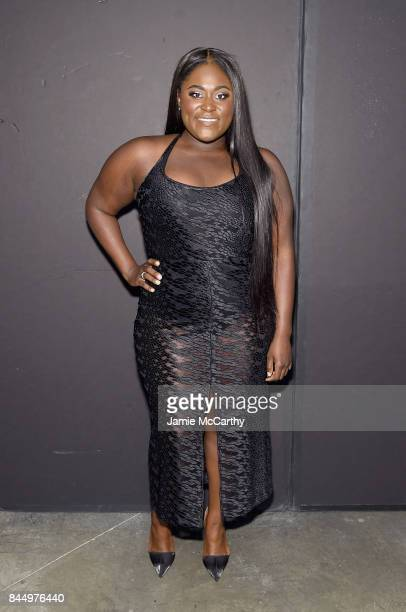 Danielle Brooks poses backstage for the Christian Siriano fashion show during New York Fashion Week The Shows at Pier 59 on September 9 2017 in New...