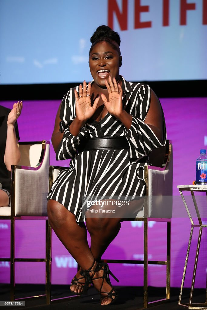 Danielle Brooks speaks onstage at the Netflix - Rebels and Rule Breakers For Your Consideration Event at Netflix FYSee Space on May 12, 2018 in Beverly Hills, California.