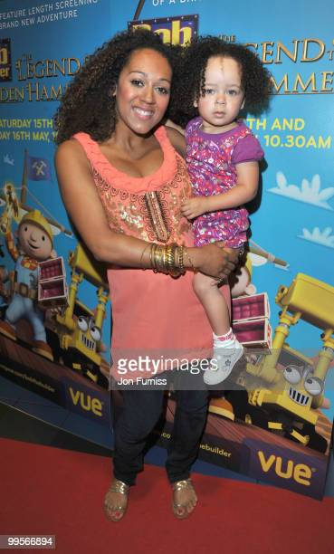 Danielle Brown attends the UK film premiere of 'Bob The Builder The Legend Of The Golden Hammer' at Vue Leicester Square on May 15 2010 in London...