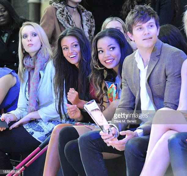 Danielle Brown Michelle Keegan Dionne Bromfield and Will Best sit in the front row at The LOOK Show in association with Smashbox Cosmetics at the...
