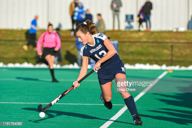 Danielle Brown of Middlebury maintains possession during the Division III Women's Field Hockey Championship held at Spooky Nook Sports on November 24...