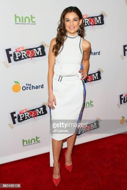 Danielle Campbell attends the premiere of The Orchard and Fine Brothers Entertainment's 'F*% The Prom' on November 29 2017 in Los Angeles California