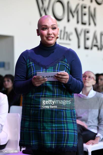 Danielle Candray speaks during the Aerie panel at 2018 Glamour Women Of The Year Summit Women Rise at Spring Studios on November 11 2018 in New York...