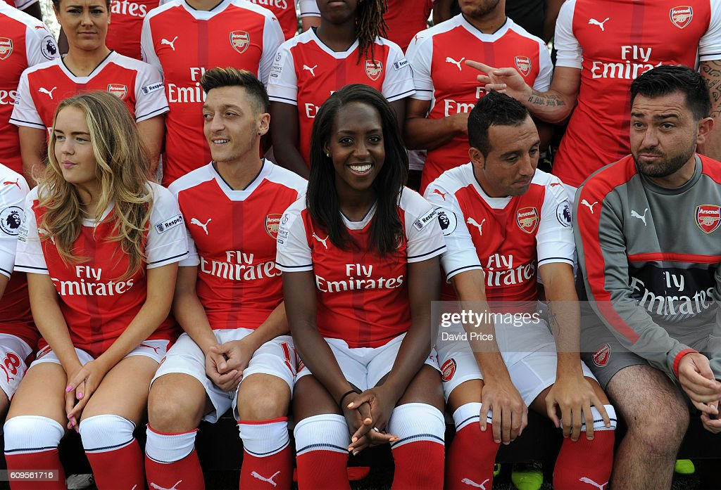 Danielle Carter of Arsenal Ladies during the Arsenal Squad photos at London Colney on September 21, 2016 in St Albans, England.