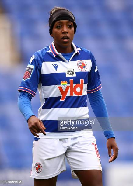 Danielle Carter of Reading during the Barclays FA Women's Super League match between Reading Women and Bristol City Women at Madejski Stadium on...