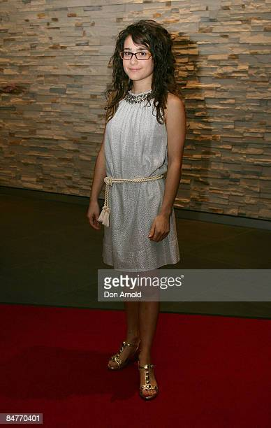 Danielle Catanzariti arrives for the 25th Annual Film Critics Circle of Australia Awards at the Greater Union Cinemas on February 13 2009 in Sydney...