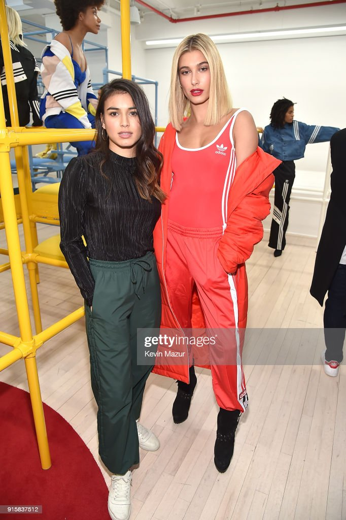 Danielle Cathari and Hailey Baldwin attend the presentation for adidas Originals by Danielle Cathari on February 8, 2018 in New York City.