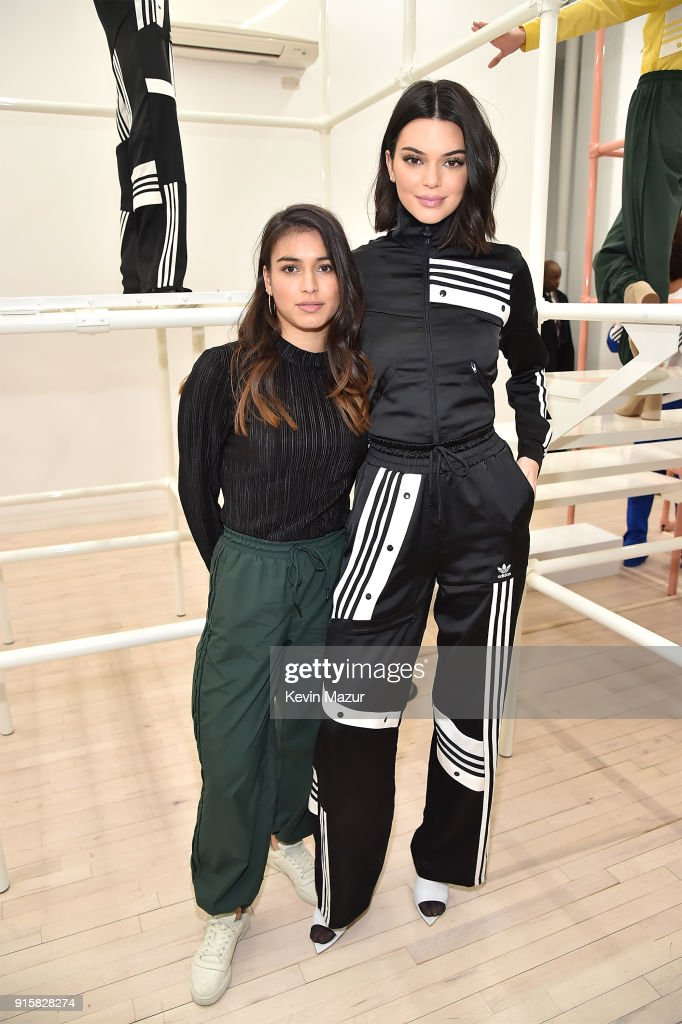 Danielle Cathari and Kendall Jenner attend the presentation for adidas Originals by Danielle Cathari on February 8, 2018 in New York City.