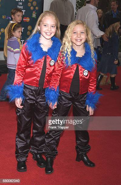 Danielle Chuchran and Brittany Oakes arrive at the world premiere of The Cat in the Hat