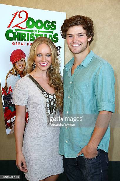 Danielle Chuchran and James Gaisford at 12 Dogs of Christmas Great Puppy Rescue Los Angeles Preview held at AMC Century City 15 theater on October 4...