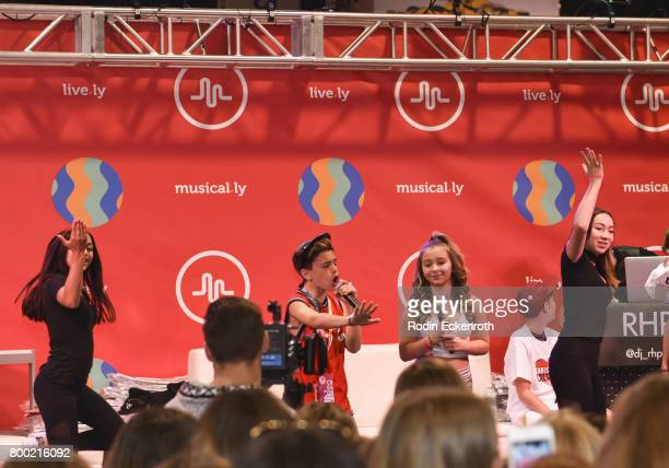 Danielle Cohn performs onstage at 2017 VidCon at the Anaheim Convention Center on June 23 2017 in Anaheim California