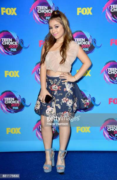 Danielle Cohn poses in the press room during the Teen Choice Awards 2017 at Galen Center on August 13 2017 in Los Angeles California