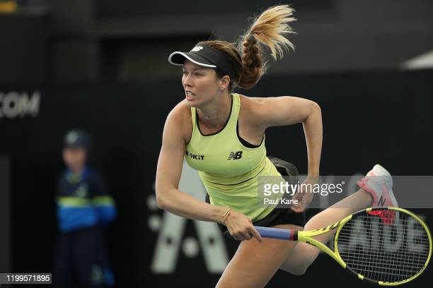 Danielle Collins of the USA serves to Sofia Kenin of the USA during day four of the 2020 Adelaide International at Memorial Drive on January 15 2020...