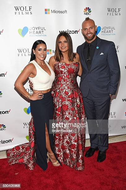 Danielle Conti actress and Joyful Heart Foundation Founder and President Mariska Hargitay and athlete Mark Herzlich attend The Joyful Revolution Gala...