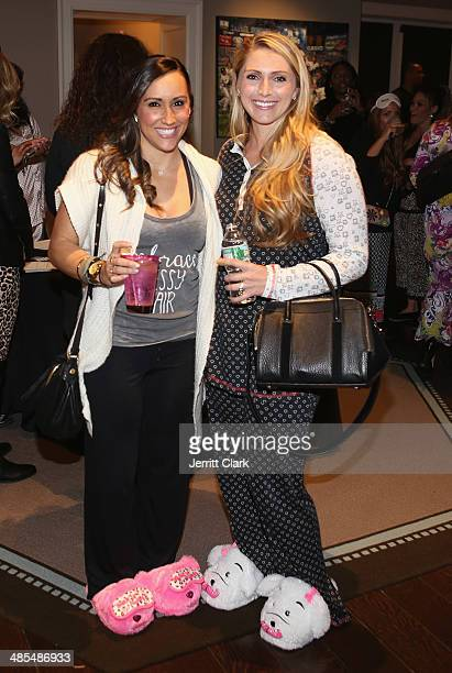 Danielle Conti and Katie Pascoe attends Ladies Night In Benefiting Not For Sale on April 17 2014 in Alpine New Jersey