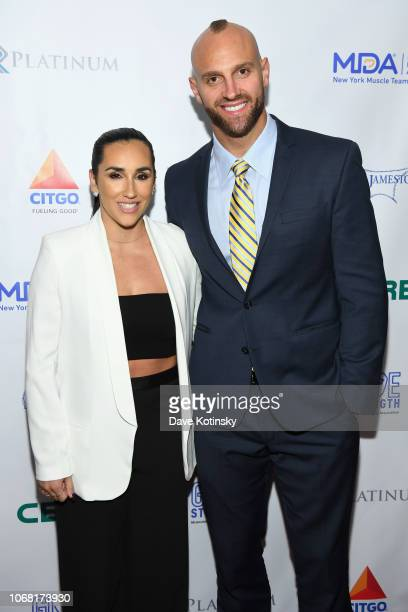 Danielle Conti and Mark Herzlich attend the Muscular Dystrophy Association Celebrates 22 Years Of Annual New York Muscle Team Gala With MVP Derek...