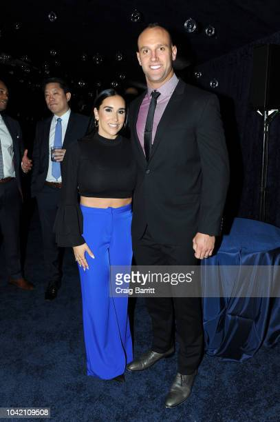 Danielle Conti and Mark Herzlich attend the Samsung Charity Gala 2018 at The Manhattan Center on September 27 2018 in New York City