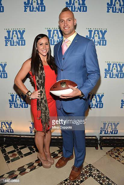 Danielle Conti and New York Giants linebacker Mark Herzlich attend the Tom Coughlin 8th Annual Champions For Children Gala at Cipriani 42nd Street on...