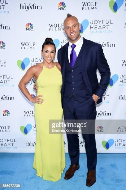 Danielle Conti and NY Giants Linebacker Mark Herzlich attend The Joyful Revolution Gala In New York City hosted by Mariska Hargitay's Joyful Heart...