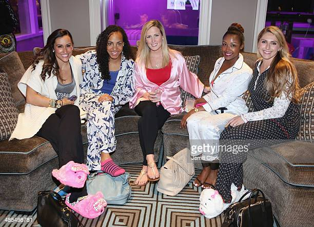 Danielle Conti Lauren Tuck guest Angella White and Katie PascoeLadies Night In Benefiting Not For Sale on April 17 2014 in Alpine New Jersey