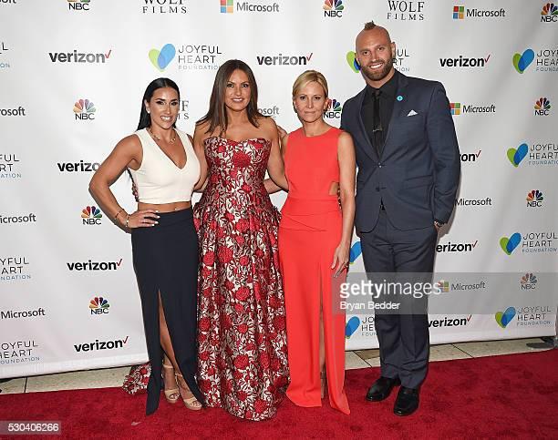 Danielle Conti Mariska Hargitay Maile Zambuto and Mark Herzlich attend The Joyful Revolution Gala hosted by Mariska Hargitay's Joyful Heart...