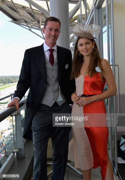 Danielle Copperman and a guest attend day 4 of Royal Ascot at Ascot Racecourse on June 22 2018 in Ascot England