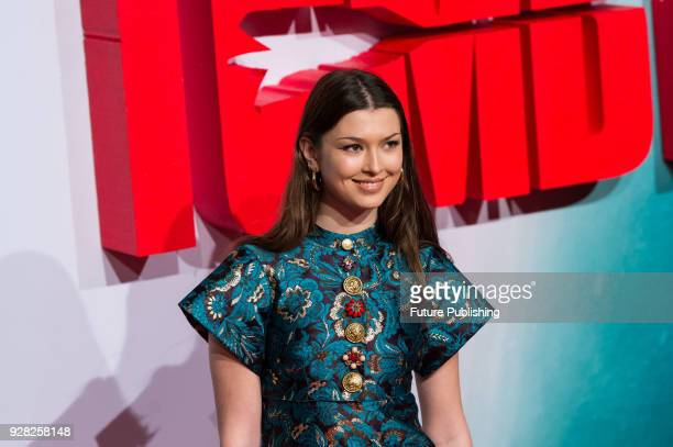 Danielle Copperman arrives for the European film premiere of 'Tomb Raider' at Vue West End cinema in London's Leicester Square March 6 2018 in London...