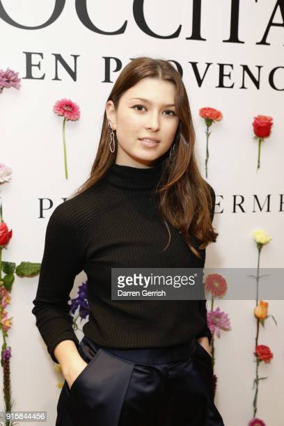 Danielle Copperman attends L'OCCITANE launch party at their flagship store on 7476 Regent street on February 8 2018 in London England