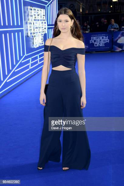 Danielle Copperman attends the European Premiere of 'Ready Player One' at Vue West End on March 19 2018 in London England