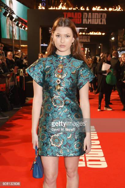 Danielle Copperman attends the European Premiere of 'Tomb Raider' at Vue West End on March 6 2018 in London England