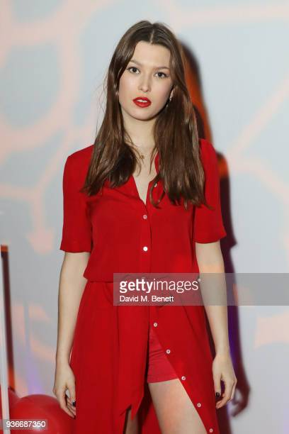 Danielle Copperman attends the SelfPortrait store opening afterparty at Central St Martins on March 22 2018 in London England