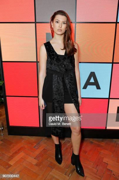 Danielle Copperman attends the Topman LFWM party at Mortimer House on January 7 2018 in London England