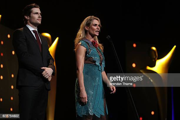 Danielle Cormack and David Berry during the 6th AACTA Awards Presented by Foxtel | Industry Dinner Presented by Blue Post at The Star on December 5...