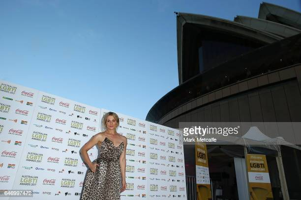 Danielle Cormack arrives ahead of the Australian LGBTI Awards 2017 at Sydney Opera House on March 2 2017 in Sydney Australia