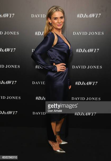 Danielle Cormack arrives ahead of the David Jones Autumn Winter 2017 Collections Launch at St Mary's Cathedral Precinct on February 1 2017 in Sydney...