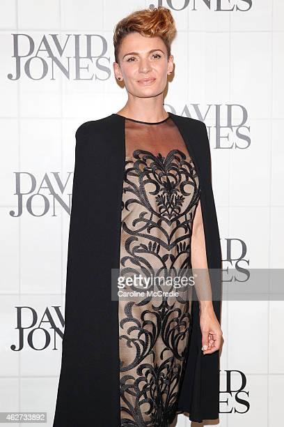 Danielle Cormack arrives at the David Jones Autumn/Winter 2015 Collection Launch at David Jones Elizabeth Street Store on February 4 2015 in Sydney...