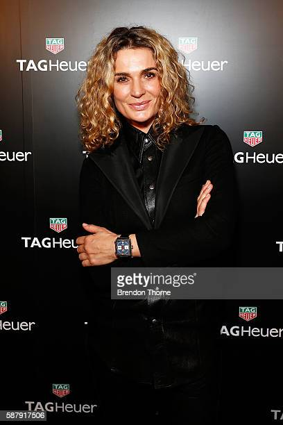 Danielle Cormack arrives at the TAG Heuer Sydney Flagship ReOpening at Pitt Street on August 10 2016 in Sydney Australia